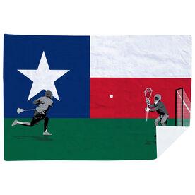 Guys Lacrosse Premium Blanket - Go for the Goal Texas