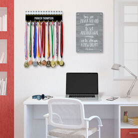 Soccer Hooked on Medals Hanger - Personalized Ball Pattern