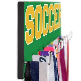 Soccer Hooked on Medals Hanger - Word