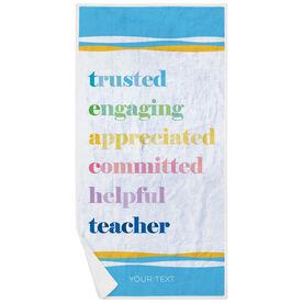 Personalized Premium Beach Towel - Teacher Mantra