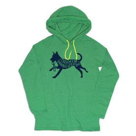 Men's Running Lightweight Hoodie - I'd Rather Be Running with My Dog