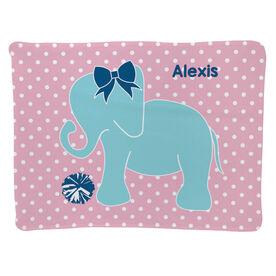 Cheerleading Baby Blanket - Cheerleading Elephant with Bow