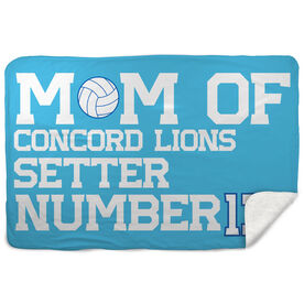 Volleyball Sherpa Fleece Blanket - Personalized Volleyball Mom