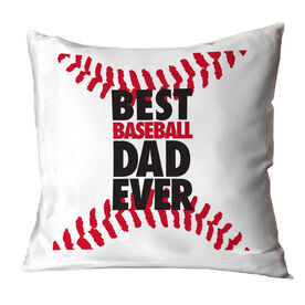 Baseball Throw Pillow Best Dad Ever