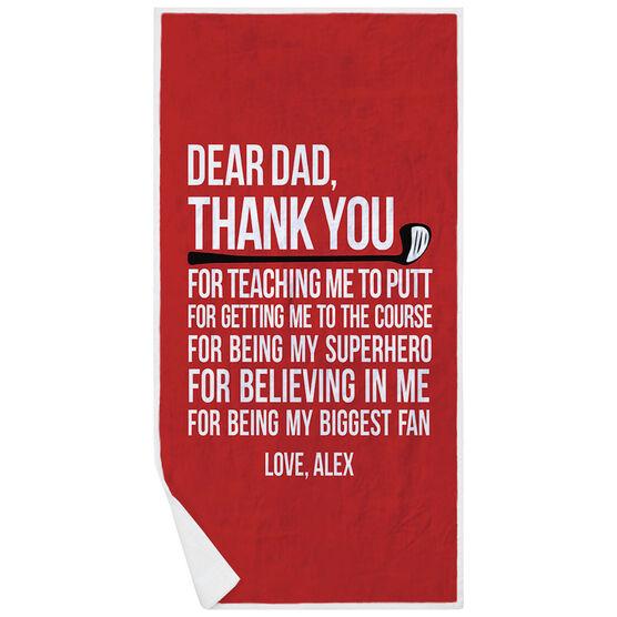 Golf Premium Beach Towel - Dear Dad
