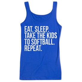 Softball Women's Athletic Tank Top - Eat Sleep Take The Kids To Softball