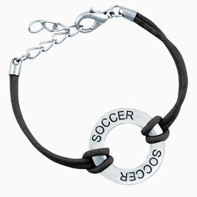 Soccer Message Ring Bracelet