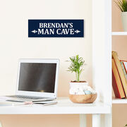 """Personalized 12.5"""" X 4"""" Removable Wall Tile - Man Cave"""