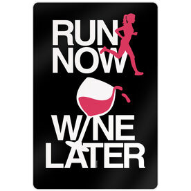 "Running 18"" X 12"" Aluminum Room Sign - Run Now Wine Later"