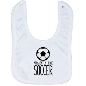 Soccer Baby Bib - I'm Told I Like Soccer