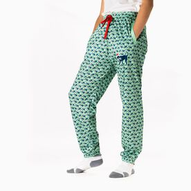 Girls Lacrosse Lounge Pants - Santa Lula The Lax Dog
