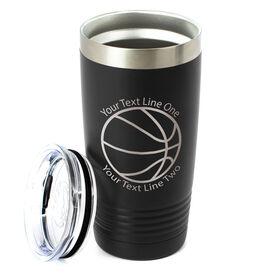 Basketball 20 oz. Double Insulated Tumbler - Icon