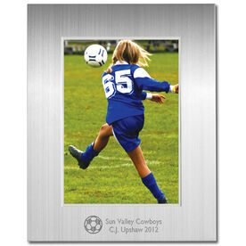 Engraved Soccer Frame Silver 5 x 7 with Soccer Icon