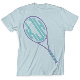 Vintage Tennis T-Shirt - Personalized Monogram Racket
