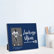 Guys Lacrosse Photo Frame - Lacrosse Mom Script