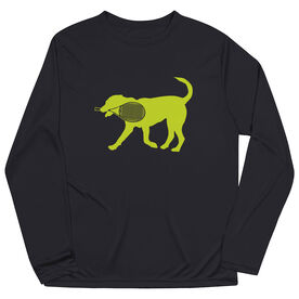 Tennis Long Sleeve Performance Tee - Dennis The Tennis Dog