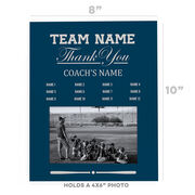 Baseball Photo Frame - Thank You Coach Roster