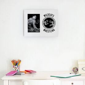 Wrestling Photo Frame - Personalized Wrestling Crest