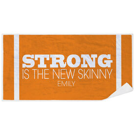 Cross Training Premium Beach Towel - Strong Is The New Skinny