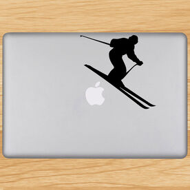 Skiing Removable ChalkTalkGraphix Laptop Decal - Downhill Skier
