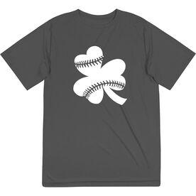 Softball Short Sleeve Performance Tee - Shamrock Softball Stitches