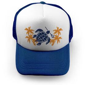 Lacrosse Trucker Hat Tropical Turtle Time