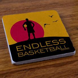 Endless Basketball (Boy) - Stone Coaster