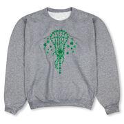 Girls Lacrosse Crew Neck Sweatshirt - Shamrock Lacrosse Stick