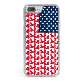 Figure Skating iPhone® Case - Figure Skate American Flag