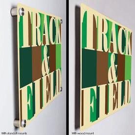 "Track & Field 18"" X 12"" Aluminum Room Sign - Track & Field Mosaic"