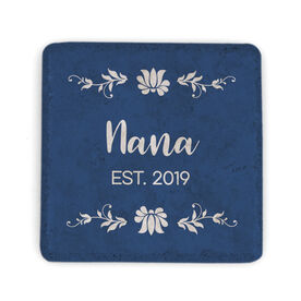 Personalized Stone Coaster - Nana with Year