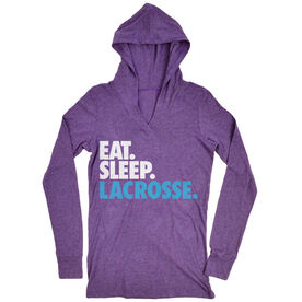 Girls Lacrosse Lightweight Performance Hoodie Eat. Sleep. Lacrosse.