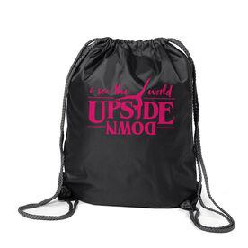 Gymnastics Sport Pack Cinch Sack - Upside Down