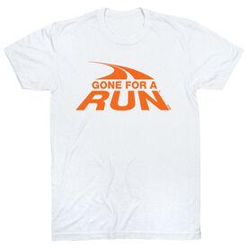 Running Short Sleeve T-Shirt - Gone For a Run Logo (Orange)