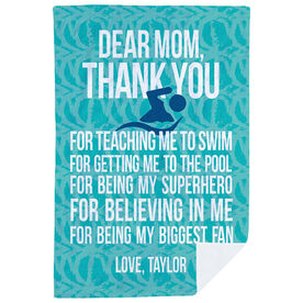 Swimming Premium Blanket - Dear Mom