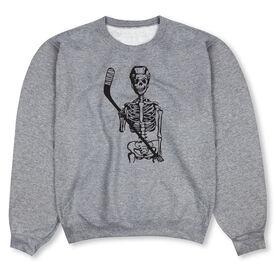 Hockey Crew Neck Sweatshirt - Skeleton (Black)