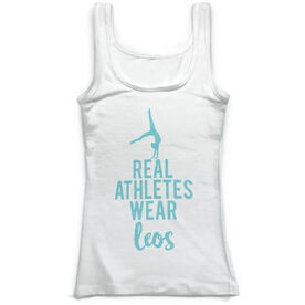 Gymnastics Vintage Fitted Tank Top - Real Athletes Wear Leos