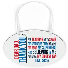 Hockey Oval Sign - Dear Dad