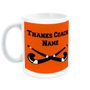 Field Hockey Coffee Mug Thanks Coach Crossed Sticks