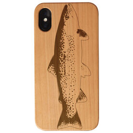 Fly Fishing Engraved Wood IPhone® Case - Fish Silhouette