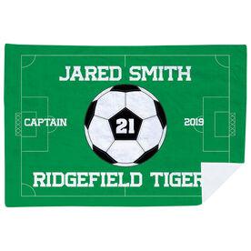 Soccer Premium Blanket - Personalized Soccer Captain