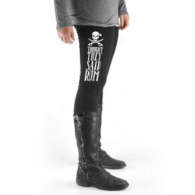 Running High Print Leggings - Thought They Said Rum