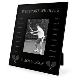 Tennis Engraved Picture Frame - Team Name With Roster (Coach)