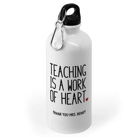 Personalized 20 oz. Stainless Steel Water Bottle - Teaching Work of Heart