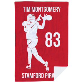 Football Premium Blanket - Personalized Wide Receiver