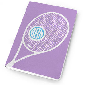 Tennis Notebook Monogrammed Racket Life