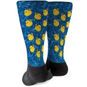 Guys Lacrosse Printed Mid-Calf Socks - Rubber Ducky