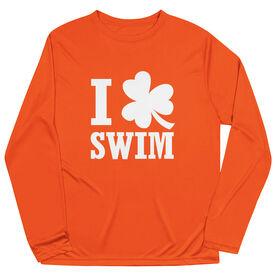 Swimming Long Sleeve Performance Tee - I Shamrock Swim