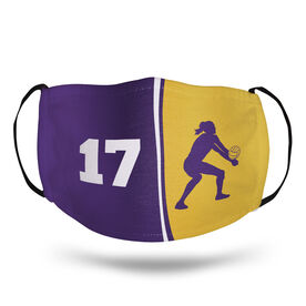 Volleyball Face Mask - Personalized Player Number