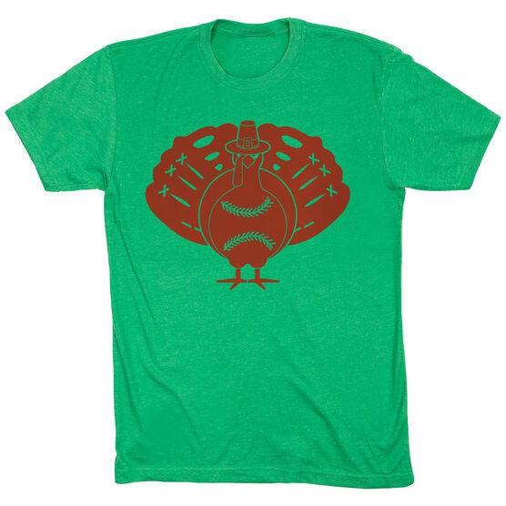 Softball Short Sleeve T-Shirt - Turkey Player